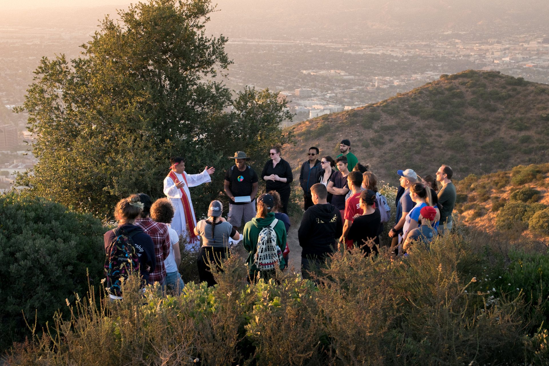 Outdoor hike and Mass with Fr. Francis.